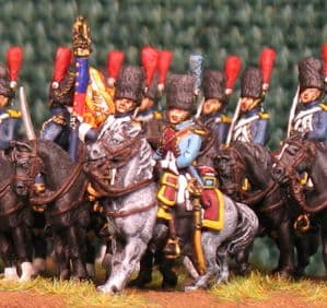 15mm, Napoleonic French Grenadiers a Cheval AB 12 fig