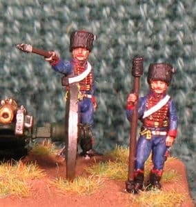 15mm, Napoleonic French Guard Horse (Volante) Artillery 6pdr AB figures